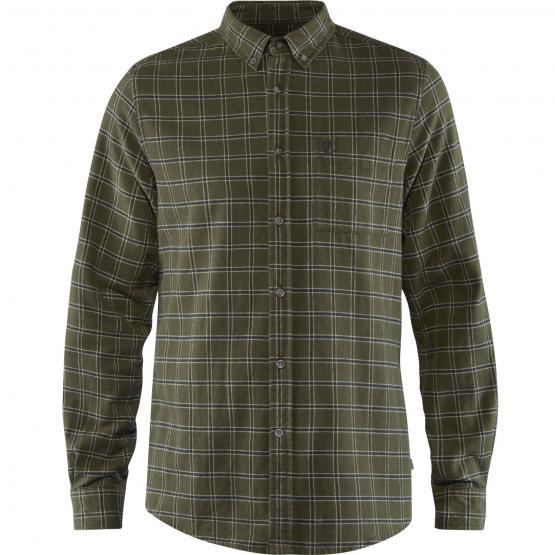 Övik Flannel Herren Hemd L | grün