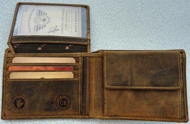 GREENBURRY Ledergeldbörse in Größe 00 00 | braun